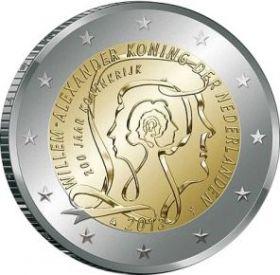 200 лет Королевству Нидерландов  2 евро Нидерланды 2013
