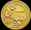 Секвойя,создатель языка Чероки 1 доллар США  2017  Серия «Американские индейцы» Монетный двор на выбор