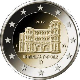 Рейнланд-Пфальц (Порта Нигра в Трире) 2 евро  Германия 2017 монетный двор (A,D,F,G,J) на выбор