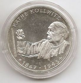 125 лет со дня смерти Кати Кольвитц 10 марок ФРГ 1992 G