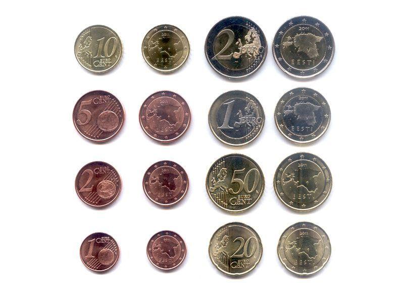 Евро эстонии выпуск монеты 25 рублей